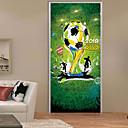 olcso Falmatricák-Dekoratív falmatricák Ajtó matricák - 3D-s falmatricák Futball 3D Nappali szoba Hálószoba Fürdőszoba Konyha Étkező Dolgozószoba / Iroda