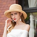 cheap Party Headpieces-Natural Fiber Hats with Bowknot 1pc Casual / Daily Wear Headpiece