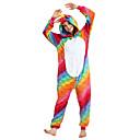tanie Odstresowywacze-Dla dorosłych Piżama Kigurumi Latający koń Piżama Onesie Flanel Tęczowy Cosplay Dla Mężczyźni i kobiety Animal Piżamy Rysunek Halloween Festiwal/Święto