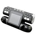 tanie DVR samochodowe-F105 1080P Night Vision / Monitorowanie 360 ° / Podwójne obiektywy Rejestrator samochodowy 120 stopni Szeroki kąt CMOS 2.7 in LCD Dash Cam z Wykrywanie ruchu Rejestrator samochodowy