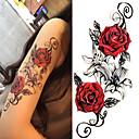 abordables Tatuajes Temporales-3 pcs Tatuajes Adhesivos Los tatuajes temporales Series de Flor / Serie romántica Artes de cuerpo Cuerpo / hombro / Pierna