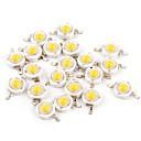 billige LED-kabinetlamper-YouOKLight 50stk Bulb tilbehør Pure Gold Wire LED LED Chip Gennemsigtig 1 W