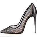 cheap Earrings-Women's Shoes Breathable Mesh Summer Comfort Heels Stiletto Heel Pointed Toe Gold / Black