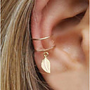 cheap Necklaces-Women's Geometric Clip Earrings / Ear Cuff / One Earring - Leaf Statement Gold / Silver For Evening Party / Street