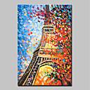 baratos Pinturas a Óleo-Pintura a Óleo Pintados à mão - Abstrato / Paisagem Modern Incluir moldura interna / Lona esticada