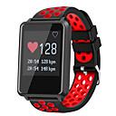 זול שעונים חכמים-חכמים שעונים STF8 ל Android 4.3 ומעלה / iOS 7 ומעלה מוניטור קצב לב / מודד לחץ דם / המתנה ארוכה / מסך מגע / עמיד במים מד צעדים / מזכיר שיחות / מעקב שינה / מצאו את המכשירשלי / Alarm Clock / חיישן קרבה