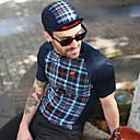 abordables Sets de Maillots Ciclistas y Shorts / Pantalones-Mysenlan Hombre Manga Corta Maillot de Ciclismo - Azul Oscuro Bicicleta Camiseta / Maillot / Experto / Axilas respirables