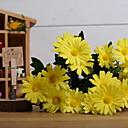 billige Stativer og holdere-Kunstige blomster 1 Gren Rustikk Kystantemum Bordblomst