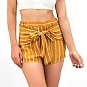 abordables Collares-Mujer Boho Shorts Pantalones - A Rayas