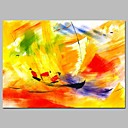 cheap Abstract Paintings-Oil Painting Hand Painted - Abstract / Sports Modern Canvas