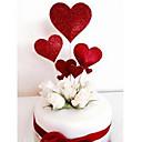 abordables Decoraciones de Pastel-Decoración de Pasteles Tema Floral / Romance / Boda Elegante / Heart Shape Papel Boda / Cumpleaños con Corazón 7pcs OPP