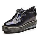 זול מוקסינים לנשים-בגדי ריקוד נשים נעליים מיקרופייבר PU סינתטי סתיו מגפיים נעלי אוקספורד עקב טריז מגפונים\מגף קרסול כסף / כחול כהה
