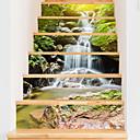 tanie Naklejki ścienne-Naklejki podłogowe - Naklejki ścienne 3D Krajobraz / Kwiatowy / Roślinny Salon / Gabinet / Pokój do nauki