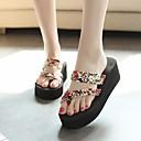 זול נעלי עקב לנשים-בגדי ריקוד נשים נעליים EVA קיץ נוחות כפכפים & כפכפים מטפסים שחור / בז' / כחול