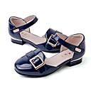 ieftine Pantofi Fetițe-Fete Pantofi Piele Originală Primavara vara Pantofi Fata cu Flori Sandale Cataramă pentru Copii Rosu / Migdală / Bleumarin
