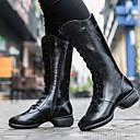 billige Dance Boots-Dame Dansestøvler Lær Høye hæler Kubansk hæl Kan spesialtilpasses Dansesko Hvit / Svart / Rød / Trening
