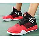 זול נעלי ספורט לגברים-בגדי ריקוד גברים PU סתיו נוחות נעלי אתלטיקה כדורסל שחור לבן / שחור אדום / שחור וצהוב