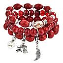 cheap Jewelry Sets-Tanzanite Layered Charm Bracelet / Strand Bracelet / Pendant Bracelet - Fashion, Multi Layer Bracelet Rainbow / Red / Blue For Daily / Going out / 3pcs