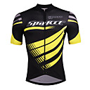 cheap Cycling Jersey & Shorts / Pants Sets-SPAKCT Men's Short Sleeve Cycling Jersey - Black / Yellow Stripe Bike Jersey, Reflective Strips Elastane Polyster / Stretchy / Advanced / Expert / YKK Zipper / Italy Imported Ink