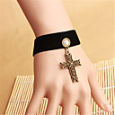 cheap Anime Cosplay Swords-Steampunk Gothic Lolita Cross Gothic Imitation Pearl For Party Prom Women's Girls' 1 Bracelet Bracelet / Bangle Costume Jewelry / Velour