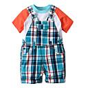 ieftine Set Îmbrăcăminte Băieți Bebeluși-Bebelus Băieți Plisat / Peteci Manșon scurt Set Îmbrăcăminte