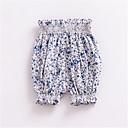 tanie Spodnie dla niemowląt-Dziecko Unisex Podstawowy Solidne kolory Poliester Szorty Niebieski / Brzdąc