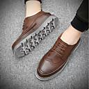 זול נעלי אוקספורד לגברים-בגדי ריקוד גברים PU קיץ נוחות נעלי אוקספורד שחור / אפור / חום