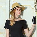 cheap Party Headpieces-Natural Fiber Hats with Ribbon Tie / Braided Strap / Plain Top 1pc Casual / Daily Wear Headpiece