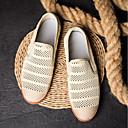 זול סניקרס לגברים-בגדי ריקוד גברים רשת / בד קיץ נוחות נעליים ללא שרוכים שחור / אפור כהה / חאקי