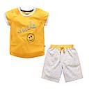 ieftine Seturi Îmbrăcăminte Băieți-Copii Băieți De Bază Mată Manșon scurt Poliester Set Îmbrăcăminte Galben 100