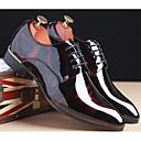 זול נעלי אוקספורד לגברים-בגדי ריקוד גברים הדפסת אוקספורד עור פטנט סתיו נוחות נעלי אוקספורד אפור / כחול / בורדו