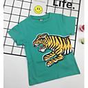 tanie Topy dla chłopców-Brzdąc Dla chłopców Moda miejska Nadruk Krótki rękaw T-shirt