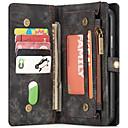 baratos Capinhas para Celular & Protetores de Tela-VORMOR Capinha Para Apple iPhone X / iPhone 7 Carteira / Porta-Cartão / Com Suporte Capa Proteção Completa Sólido Rígida PU Leather para iPhone X / iPhone 8 Plus / iPhone 8