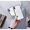 זול מגנים לטלפון & מגני מסך-מגן עבור Apple iPhone X / iPhone 6 מראה כיסוי אחורי אחיד קשיח זכוכית משוריינת ל iPhone X / iPhone 8 Plus / iPhone 8