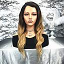 ieftine Peruci Păr Uman-Păr Remy Față din Dantelă Perucă Păr Brazilian / Stil Ondulat Ondulat Perucă 130% Pentru femei Lung Peruci Păr Uman