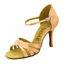 abordables Zapatos de Baile Latino-Mujer Zapatos de Baile Latino / Zapatos de Salsa Satén / Seda Sandalia / Tacones Alto Hebilla / Corbata de Lazo Tacón Personalizado