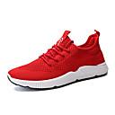 זול סניקרס לגברים-בגדי ריקוד גברים טול קיץ נוחות נעלי אתלטיקה ריצה לבן / שחור / אדום