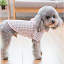 preiswerte Hundekleidung-Hunde / Katzen Mäntel / Kapuzenshirts Hundekleidung Plaid / Karomuster Grün / Rosa Terylen Kostüm Für Haustiere Weiblich Ordinär /