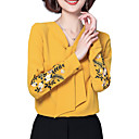 cheap Totes-Women's Basic Blouse - Floral Embroidered