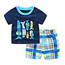 povoljno Džemperi i kardigani za dječake-Dijete koje je tek prohodalo Dječaci Prugasti uzorak / Karirani uzorak Kratkih rukava Komplet odjeće