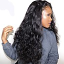 voordelige Synthetische kanten pruiken-Pruik Lace Front Synthetisch Haar Gekruld Zijdeel 150% Human Hair Density Synthetisch haar Met babyhaar / Hittebestendig / Natuurlijke haarlijn Zwart / Donkerbruin Pruik Dames Lang Kanten Voorkant