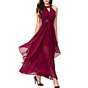cheap Clutches & Evening Bags-Women's Cotton / Polyester Slim Swing Dress - Solid Colored High Waist Maxi V Neck / Summer