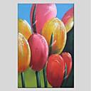 ieftine Picturi în Ulei-Hang-pictate pictură în ulei Pictat manual - Floral / Botanic Modern Includeți cadru interior