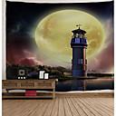billige Veggklistremerker-Arkitektur Veggdekor polyester Vintage Veggkunst, Veggtepper Dekorasjon