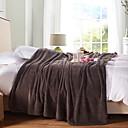 preiswerte Sofadecken & Überwürfe-Korallenfleece, Jacquard Solide Polyester Decken / Flanell