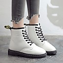 cheap Women's Boots-Women's PU(Polyurethane) Fall & Winter Combat Boots Boots Flat Heel Round Toe Booties / Ankle Boots White / Black / Red