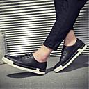 זול נעלי בד ומוקסינים לגברים-בגדי ריקוד גברים PU סתיו נוחות נעלי ספורט שחור / אפור / חום
