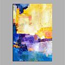 Χαμηλού Κόστους Ελαιογραφίες-Hang-ζωγραφισμένα ελαιογραφία Ζωγραφισμένα στο χέρι - Αφηρημένο Μοντέρνα Χωρίς Εσωτερικό Πλαίσιο / Κυλινδρικός καμβάς