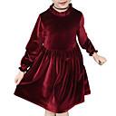 povoljno Haljine za djevojčice-Djeca Djevojčice slatko Jednobojni Dugih rukava Do koljena Haljina