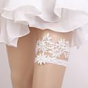 billige Bryllupsstrømpebånd-Blondelukning Vintage Stil Bryllup Garter Med Blonde / Elastik Strømpebånd Bryllup / Fest / aften
